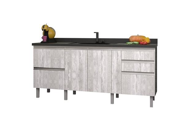 Gabinete para Cozinha em Mdf Tupã 194cm Calcare - Cozimax