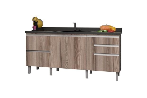 Gabinete para Cozinha em Mdf Tupã 194cm Tamarindo - Cozimax