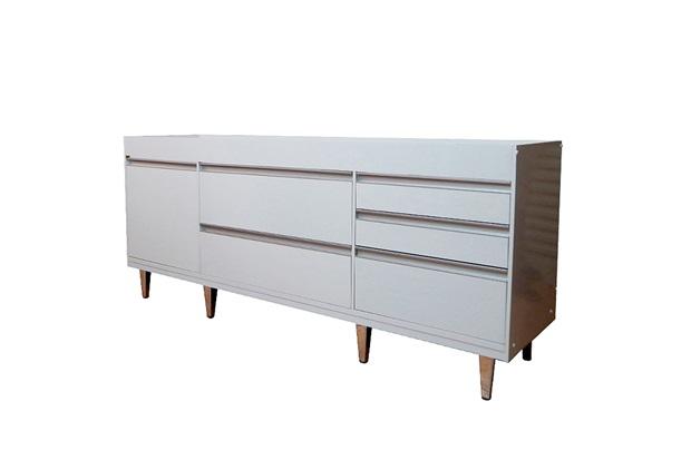 Gabinete para Cozinha em Mdf Viseu 86,5x180cm Branco - Irmãos Corso