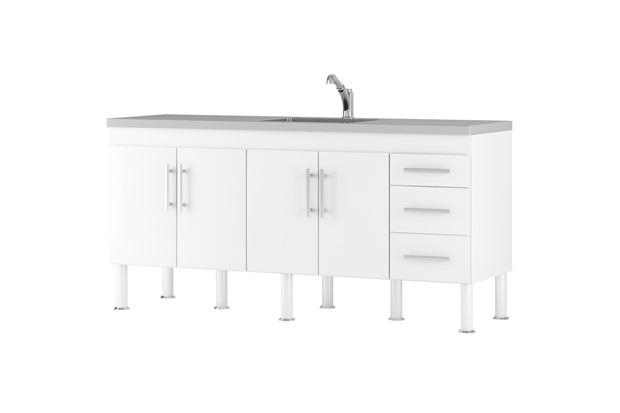Gabinete para Cozinha em Mdp Flex 194x80cm Branco - MGM Móveis