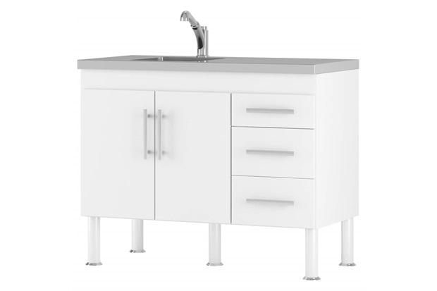 Gabinete para Cozinha em Mdp Flex 80x94cm Branco - MGM Móveis