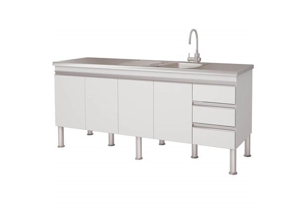 Gabinete para Cozinha em Mdp Ibiza 80x173,5cm Branco - MGM