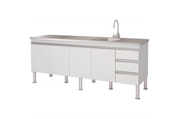 Gabinete para Cozinha em Mdp Ibiza 80x193,5cm Branco - MGM