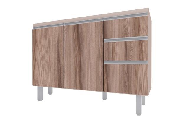 Gabinete para Cozinha em Mdp Potira para Pia de 120cm Nude E Tamarindo - Cozimax