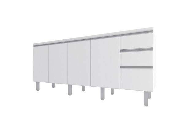 Gabinete para Cozinha em Mdp Potira para Pia de 200cm Branco - Cozimax