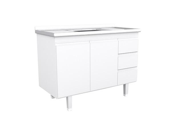 Gabinete para Pia de 120cm Branco - Bonatto
