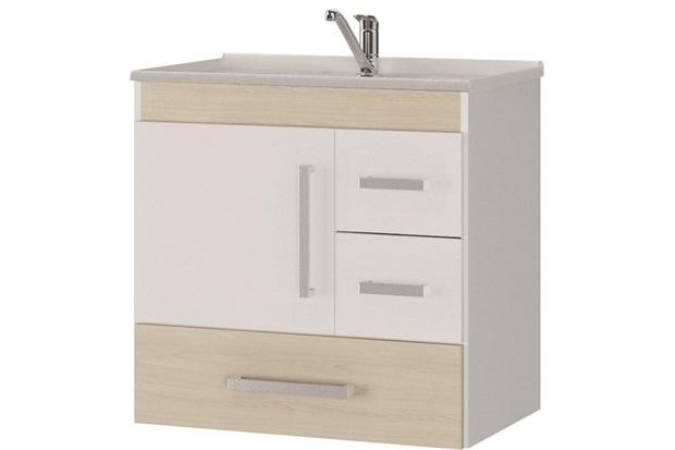 Gabinete Suspenso para Banheiro com Tampo Florença 60x56cm Acácia Claro - MGM Móveis
