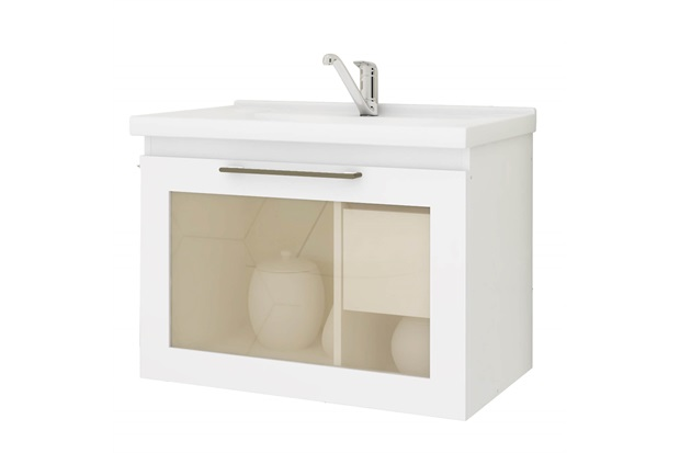 Gabinete Suspenso para Banheiro Hibisco 44x59cm Branco - MGM