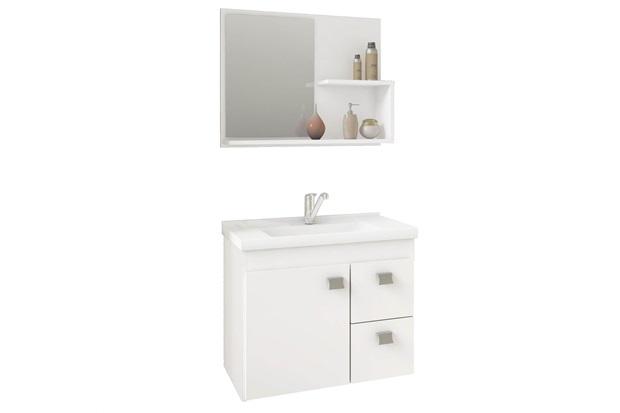 Gabinete Suspenso para Banheiro Hortência 46x55cm Branco - MGM