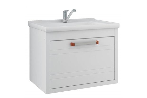 Gabinete Suspenso para Banheiro Jade 44x59cm Branco - MGM