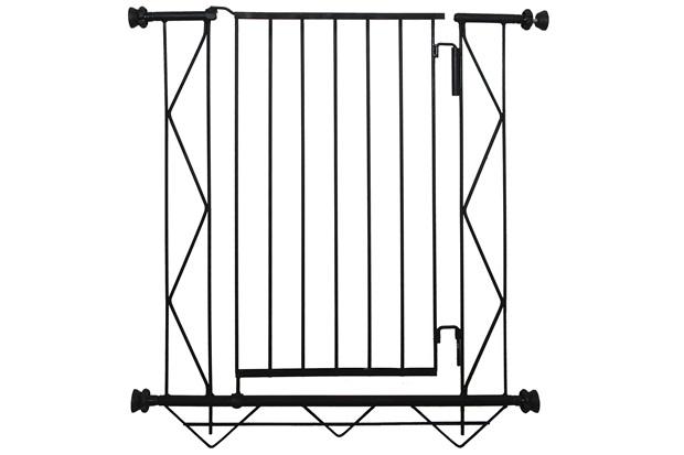 Grade de Porta em Aço 83x70cm Preta - Alambre