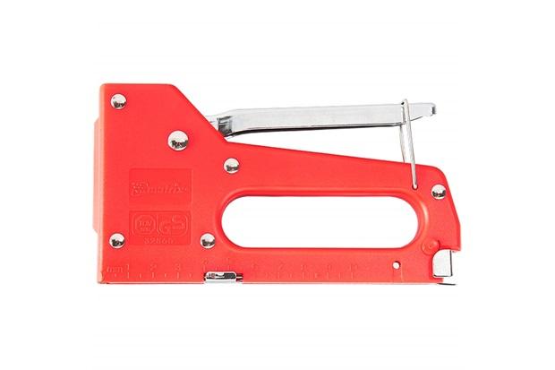 Grampeador Manual Profissional 4mm a 8mm Vermelho - MTX