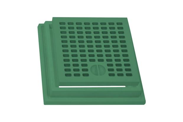 Grelha com Aro 20x20 Verde - Stamplast
