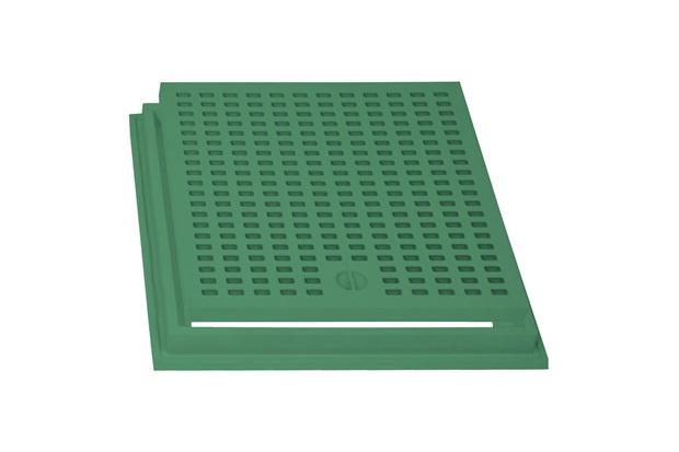 Grelha com Aro 40x40 Verde - Stamplast