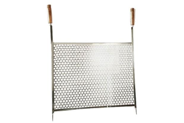 Grelha em Aço Inox para Churrasco Moeda 45x50 - Kala