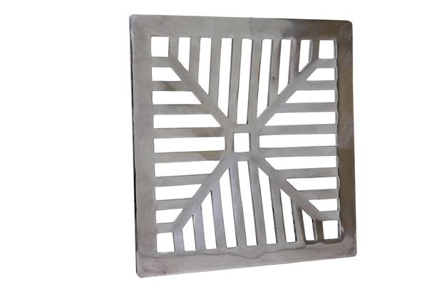Grelha Fixa Côncava em Alumínio Polido 25 X 25 Cm  - Costa Navarro