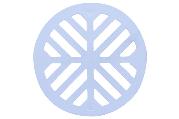 Grelha para Caixa Sifonada Redonda em Alumínio Elegance 10cm Branca - Costa Navarro
