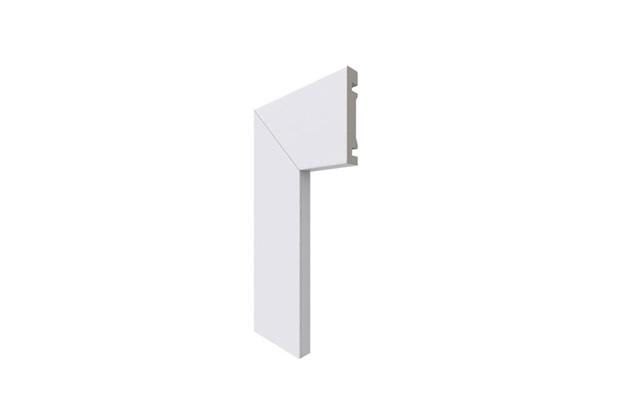 Guarnição em Poliestireno para Porta Moderna 7cm Branca - Santa Luzia