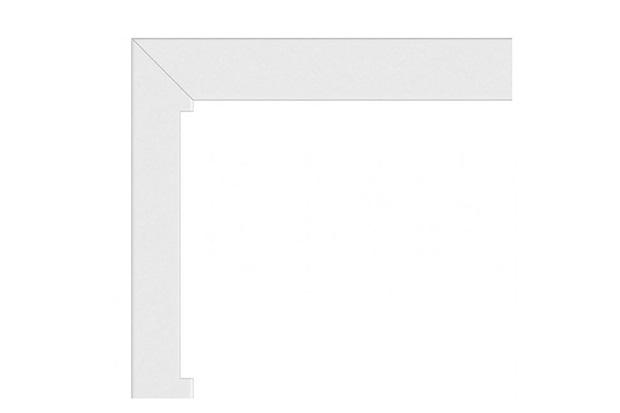 Guarnição Interna Fixa em Alumínio 120x120cm Branca - Sasazaki