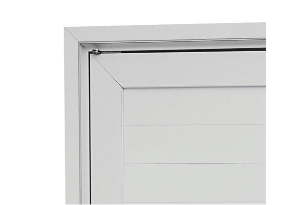 Guarnição para Porta Pivotante Alumifort 216x110cm Branca - Sasazaki