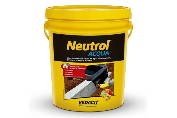 Impermeabilizante Asfáltico Neutrol Acqua Lata 18litros - Vedacit