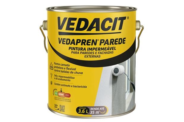 Impermeabilizante Vedapren Parede Branco Galão 3,6 Litros - Vedacit
