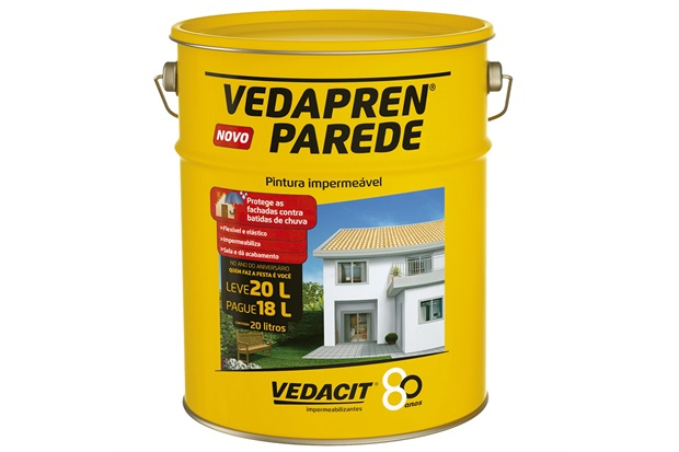 Impermeabilizante Vedapren Parede Palha 20 Litros - Vedacit