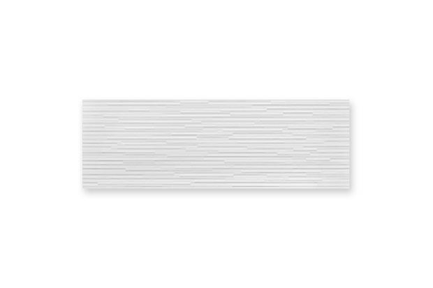 Inserto Acetinado Borda Reta Risca Branco 30x90cm - Incepa