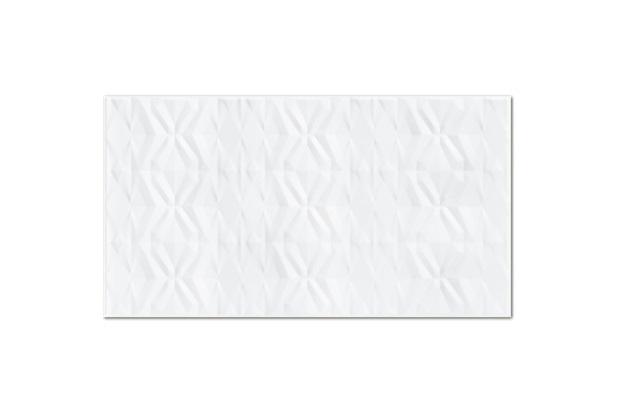 Inserto Esmaltado Brilhante Borda Reta Capitonne Branco 32x59cm - Incepa