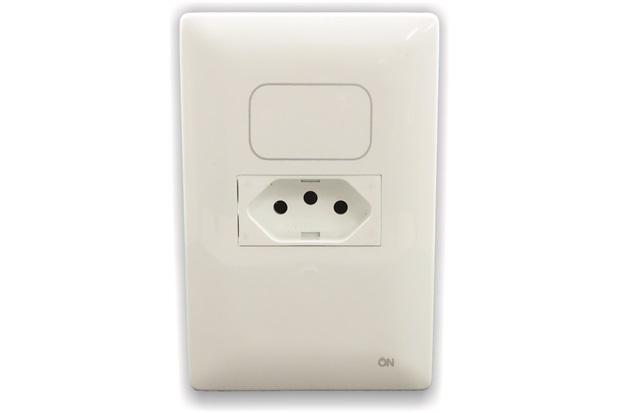 Interruptor Digital Paralelo com 1 Tomada 10a One Touch  - Amicus