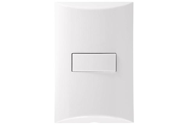 Interruptor Simples 4''X2'' 10a 250v Brava Branco - Iriel