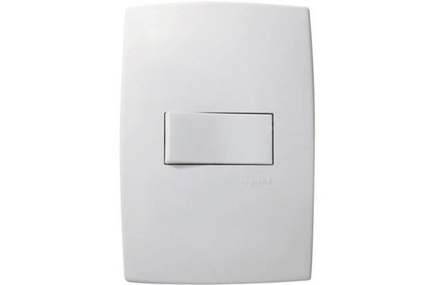 Interruptor Simples Horizontal 10a 220v com Placa Pialplus Branco - Pial Legrand