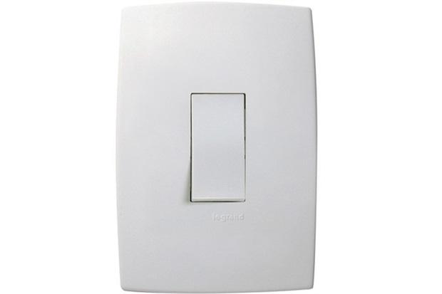 Interruptor Simples Vertical 10a 220v com Placa Pialplus Branco - Pial Legrand
