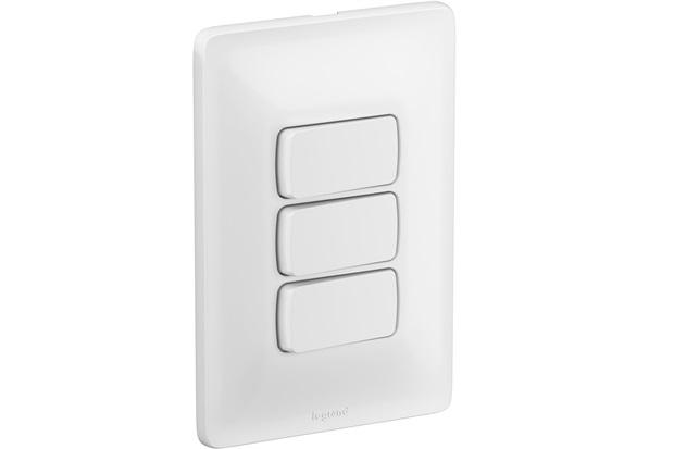 Interruptor Triplo Simples 4''X2'' Zeffia 10a 250v Branco - Pial Legrand