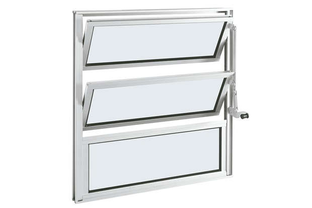 Janela Basculante em Alumínio Alumifort 60x60cm Branca - Sasazaki