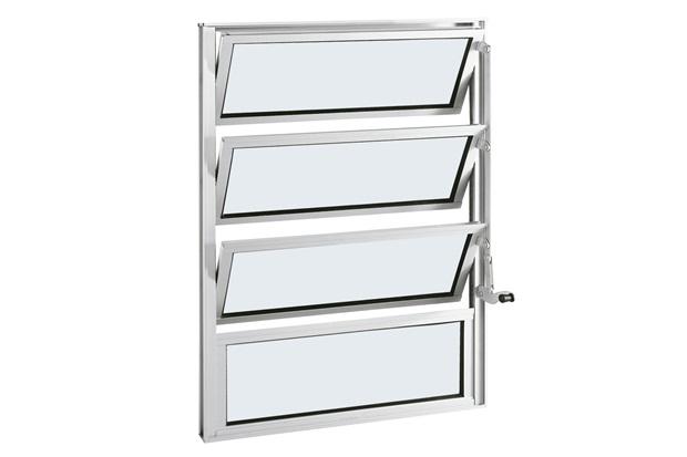 Janela Basculante em Alumínio Alumifort 80x60cm Branca - Sasazaki