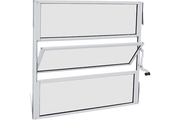 Janela Basculante sem Grade Alumifit 60x60cm Branca - Sasazaki