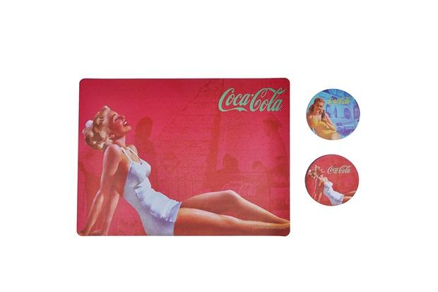 Jogo Americano E Porta Copos Coca-Cola Blond Lady - Urban