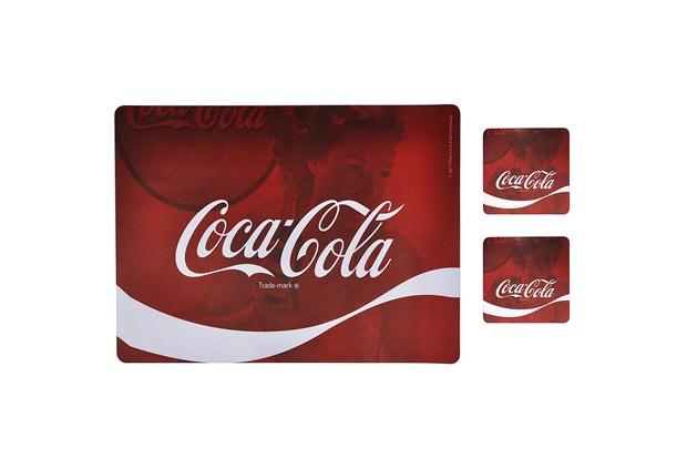 Jogo Americano E Porta Copos Coca-Cola Wave - Urban