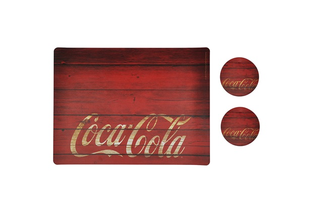 Jogo Americano E Porta Copos Coca-Cola Wood Style - Urban