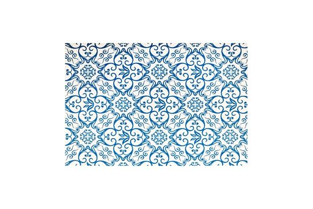 Jogo Americano Textilene 45x30cm Azulejo Azul - Uzoo