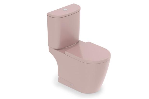 Kit Bacia com Caixa Acoplada E Assento Sanitário Neo Rosa - Incepa