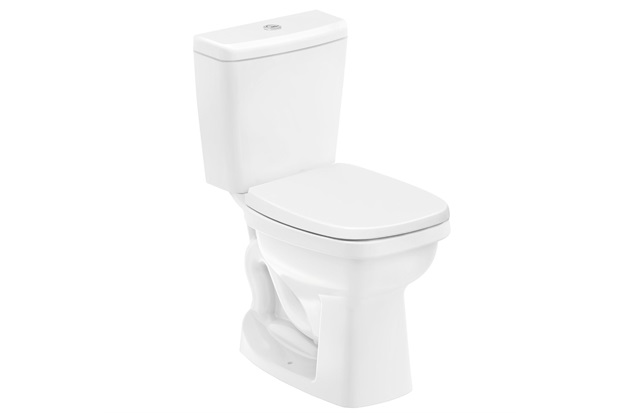 Kit Bacia com Caixa Acoplada Like 3/6 Litros + Assento Sanitário em Polipropileno Branco - Celite