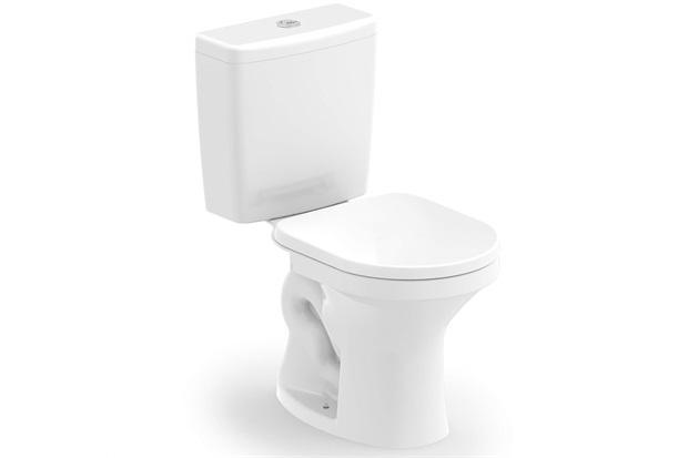 Kit Bacia com Caixa Acoplada Net 3/6 Litros + Assento Sanitário em Polipropileno Branco - Celite