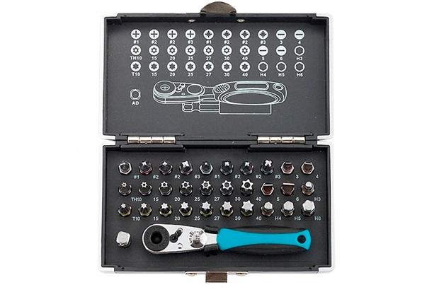Kit Bits com Adaptador Magnético com 33 Peças Azul E Preto - Gross