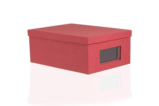 Kit Caixa Organizadora Office Vermelha com 2 Peças - Casa Etna