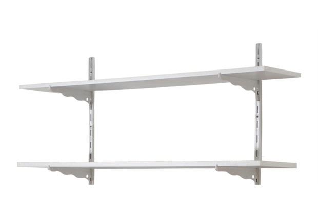 Kit com 2 Prateleiras Multiúso Branco 50x22cm - Prat-k