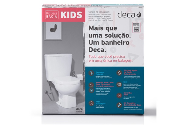 Kit de Bacia com Caixa Acoplada Studio Kids Branco - Deca