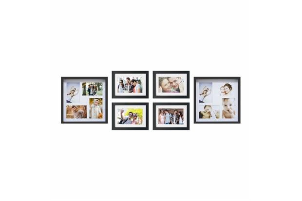 Kit de Paineis E Porta Retratos I Preto com 6 Peças - Kapos