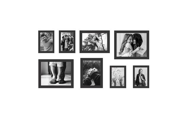 Kit de Porta Retratos Iii Branco com 8 Peças - Kapos
